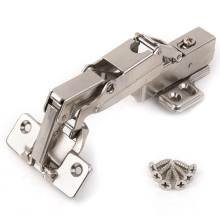 Furniture Hinge Hydraulic 175 Degree Copper Core Hinge Damper Buffer Cabinet Cupboard Door Hinges Soft Close Hardware