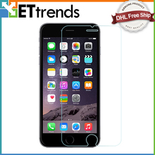 200PCS/LOT 0.26mm Best Quality Screen Protector For iPhone 6/6S Tempered Glass Protective Film With Retail Package DHL Free Ship(China)