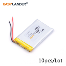 10pcs /Lot 3.7v 462849 630mAh lithium Li ion polymer rechargeable battery For Bluetooth Headset 3D glasses Smart watch(China)