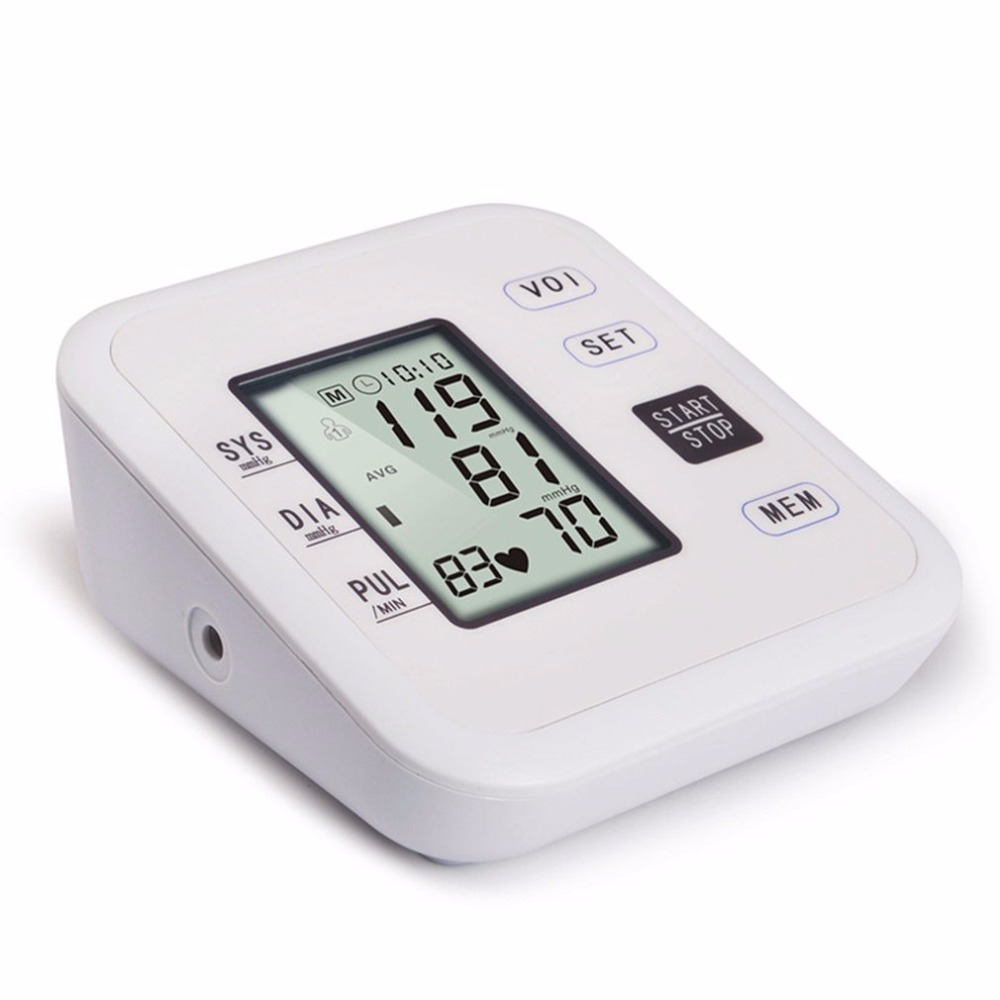 Arm Type Rechargeable Voice Tonometer Smart Digital Pulse Blood Pressure Monitor Health Care Household Sphygmomanometer 12