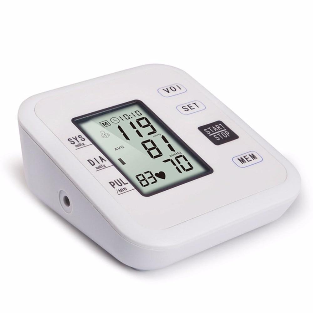 Arm Type Rechargeable Voice Tonometer Smart Digital Pulse Blood Pressure Monitor Health Care Household Sphygmomanometer 12