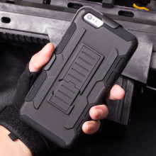 Hard Phone Case for iPhone 7 6 6 Plus 5 5S SE Cases Cover 3D Kickstand & Locking Belt Clip Military Cell Phone Shell Cover Bags