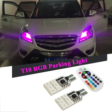 2x Canbus T10 W5W 168 194 2825 RGB Clearance Parking Light For Toyota Corolla Camry RAV4 Prado Highlander Land Cruiser Prius