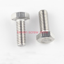 Free Shipping 20pcs/Lot DIN933\GB5783 M6x50 mm M6*50 mm 304 Stainless Steel hex bolts(China)