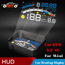 "4E Auto 5.5"" HUD Head Up Display Windscreen Projector OBD II Car Data Diagnosis FOR CLUBMAN COUNTRYMAN COUPE ROADSTER PACEMAN"