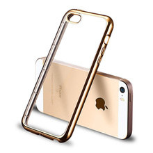 For Apple iPhone 5S Case Soft Silicone Cover For iPhone 5 5S SE Luxury Transparent TPU Silicon Coque For iPhone 5 Case TOMKAS