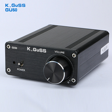 2017 NEW K.GuSS GU50 HIFI 2.0 class D TPA3116 Mini borne audio power amplifier amplificador 2 * 50 w DC12V to DC24V