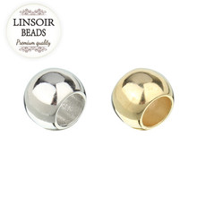 LINSOIR 100pcs/lot 4 6 8 10 12 mm CCB Spacer Beads Gold Color Big Large Hole Beads For DIY Jewelry Making (not metal) F1497A