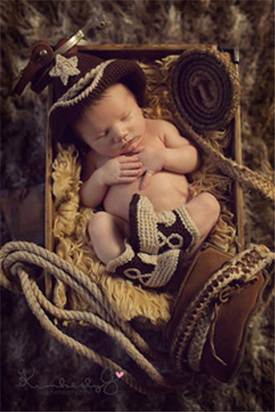 Newborn photography cowboy hat