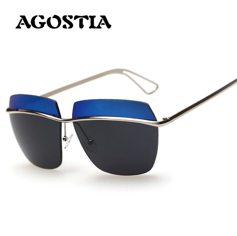 AGOSTIA Cat Eye Women Sunglasses Polarized Rimless Metallic Female Sun Glasses Oculos De Sol Gafas With Case<br><br>Aliexpress