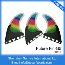 Future/FCS G5 Fins Fibreglass Colorful Fins Quilhas Surfboard Honeycomb M Size Fin Surfing Fins