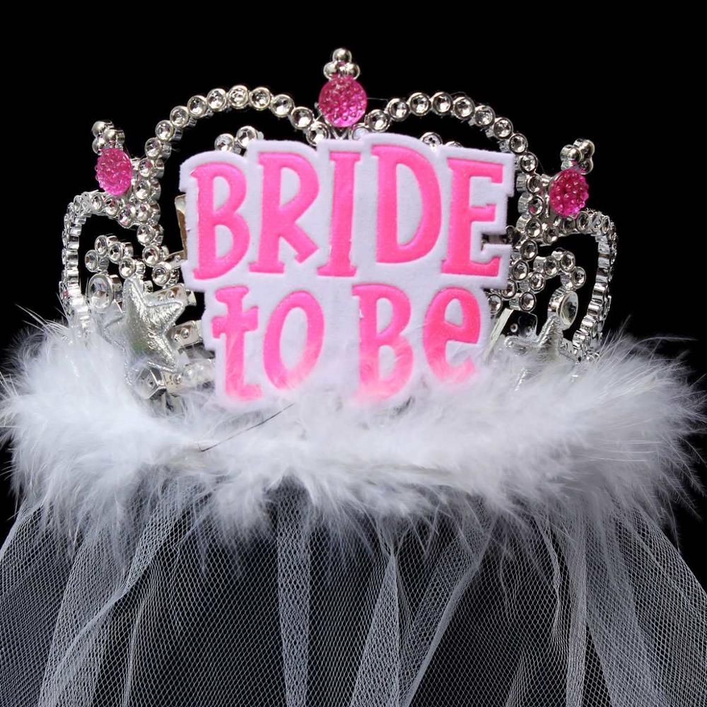 1Pcs Wedding Veil Bridal Crown Bride To Be Favors Gifts Accessories ...