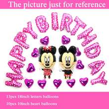 Buy 25pc foil balloons mickey mouse minnie birthday balloon child happy birthday balloon set party letter balloon free for $5.27 in AliExpress store
