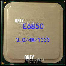 free shipping E6850 Desktop Computer Processor Intel Cpu dual core 2 Duo Cpu 3.0GHz 4MB/1333MHz LGA 775