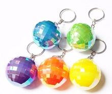5 pc Plastic Colorful deco Ball key ring 39mm VINTAGE Charms Retro Fashion Birthday Party Favors Pinata Bag Filler Loot Gag Game