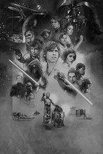 DIY frame 2017 Star Wars Celebration Art Movie Film posters and print home decor art silk Fabric Poster Print(China)