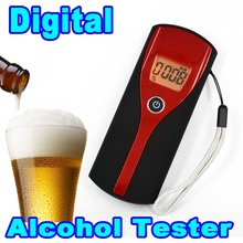 2016 Hot professional Digital Alcohol Tester Breath Tester Easy Breathalyzer Analyzer with LED Display For Driver Safe Drive