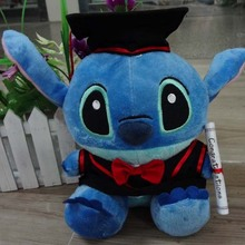 Graduation toy for student  Doctor  Stitch  plush animal toy classic Graduation gift