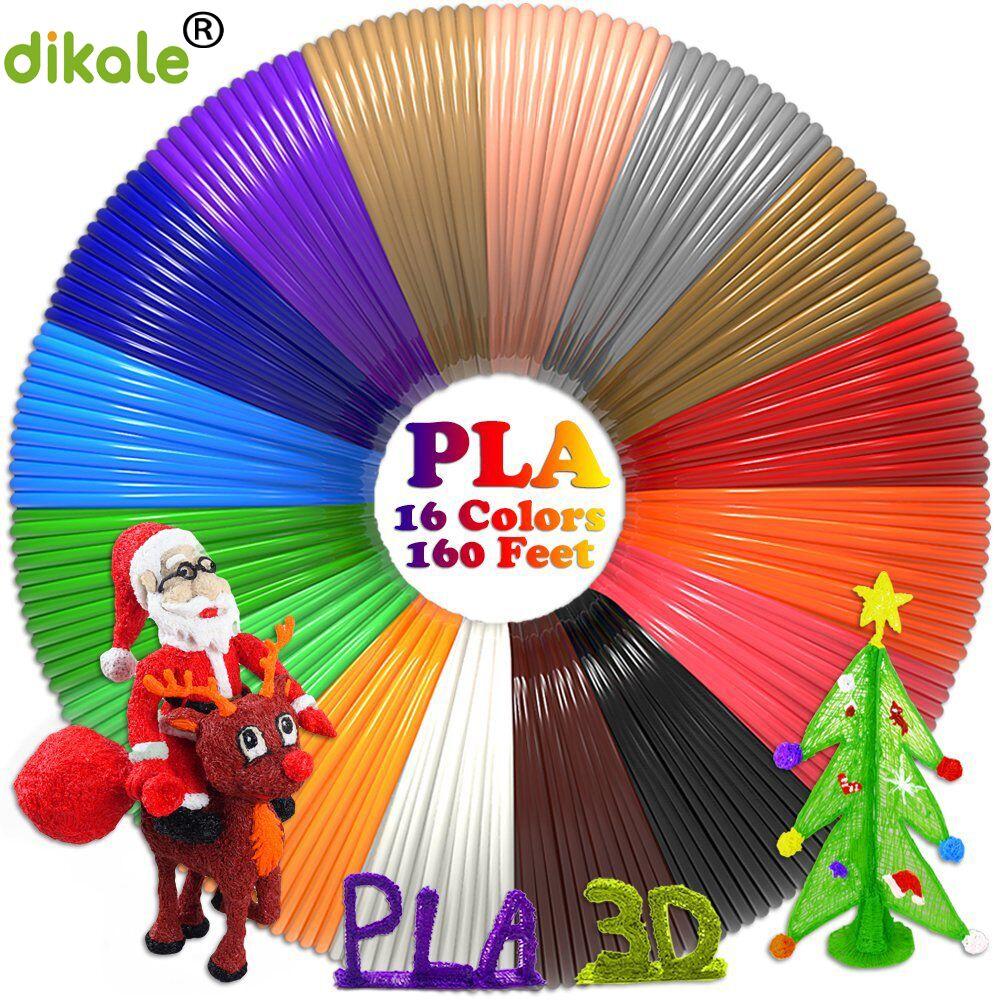 16 colors 3D Pen PLA Filament Refills 1.75mm total 160 f... 10 foot per color