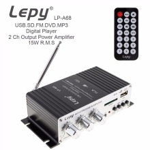 Buy LEPY LP-A68 15W x 2 2CH HI-FI Digital Audio Player Car Amplifier FM Radio Stereo Player Support SD / USB / MP3 / DVD Input for $24.57 in AliExpress store
