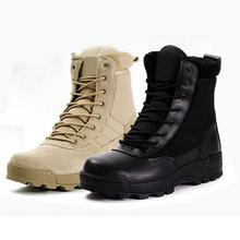 Military Tactical Combat Outdoor Sport Army Men Boots Desert Botas Hiking Autumn Shoes Travel Leather High Boots Male(China)