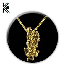 free shipping norse tiger pendant viking Norway tiger necklace men pendant Amulets jewelry golden Pagan amulet