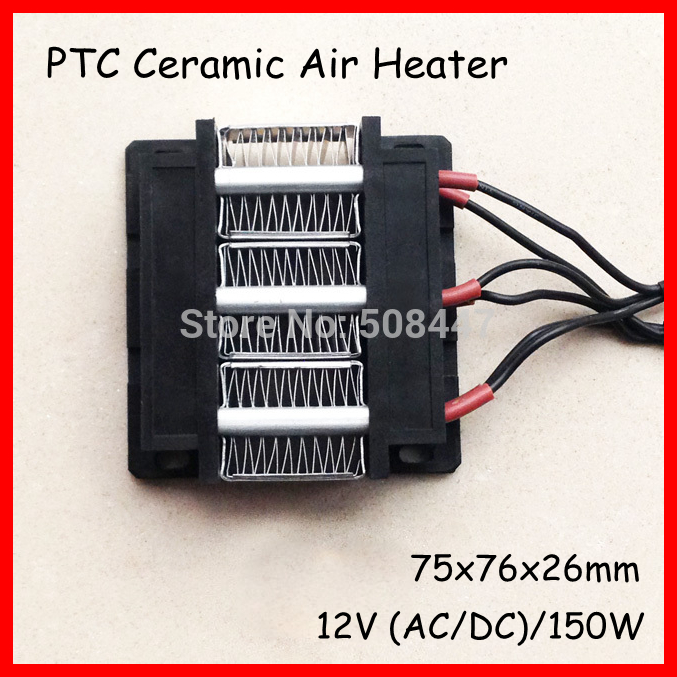 PTC heating element heater Electric heater ceramic Thermostatic AC DC 12V 150W 3 row/micro<br>