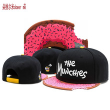 new black pink trend  hip hop  notch Snapback caps high quality the munchies gorras cotton adjustable men women baseball cap