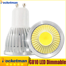 GU10 LED Dimmable E27 E14 MR16 COB Spotlight Bulb Lamp 3W 5W 7W LED lamp light GU10 COB Spotlight Bulb Light