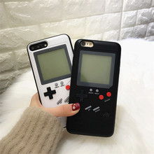 Gameboy Case Tetris Phone Case for iPhone X 6 8 Plus Retro Game Console Cover for iPhone 7 Plus Play Blokus Game Protective Cove(China)