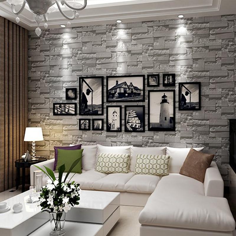 3D Brick Stone Wallpaper Textured Wallpaper Roll Brick Wall Background for Home Art Decoration Wall Paper Sticker