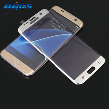 ELENXS Drop Ship Cell Phone Protector Steel Membrane Screen Protection Cover Tempered Glass For Samsung S7 Edge For S7 Edge+