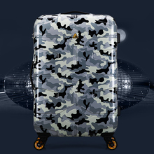 2018 New Camouflage Luggage 20 24 inches Suitcase Hard Shell Rolling Luggage(China)