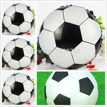 Wholesale 50pcs/lot football foil balloon,18inch round helium baloes, mylar baloon size 45x45cm holiday decorations