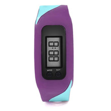 Digital Watch Women Silicone Band LCD Pedometer Run Step Walking Distance Calorie Counter Watch Fashion Ladies Bracelet Watches