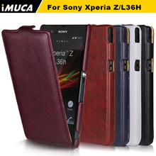 iMUCA Case For Sony Xperia Z L36H C6603 Case Flip Leather Phone Cases Anti-knock Back Cover Coque For Sony Xperia Z L36h Case