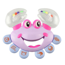 Plastic Crab Toy Jingle Baby Kid Musical Educational Shaking Rattle Handbell Musical handbell