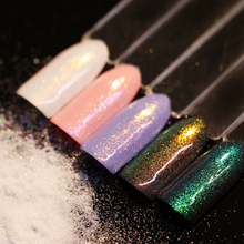 BORN PRETTY 1.5g Chameleon Mermaid Nail Powder Manicure Chrome Pigment Glitter Fairy Dust Tips Decoration(China)