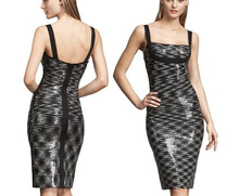 New Bandage Sun Dress Women Formal Apparel Sequined Sparkle Halter Clothing Woman Clubbing Celebrity Sexy Clubwear HL1214
