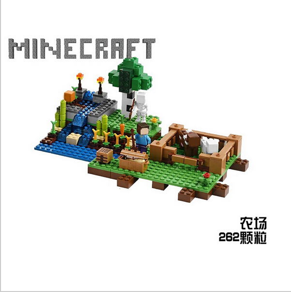 Lepin 18012 Minecrafted My worlds Village Building Blocks Bricks For Children Gift Kids Toys<br><br>Aliexpress