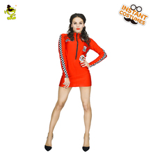 Women Sexy Racer Racing Driver Costume Jumpsuit Racing Girl Cheerleader Nightclub Outfit(China)