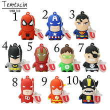 USB 3.0 Pen Drive Cartoon Fancy SUPER HERO MAN USB Flash Drives Thumb Spiderman Memory Stick PenDrive 32GB Bulk Cheap Gift(China)