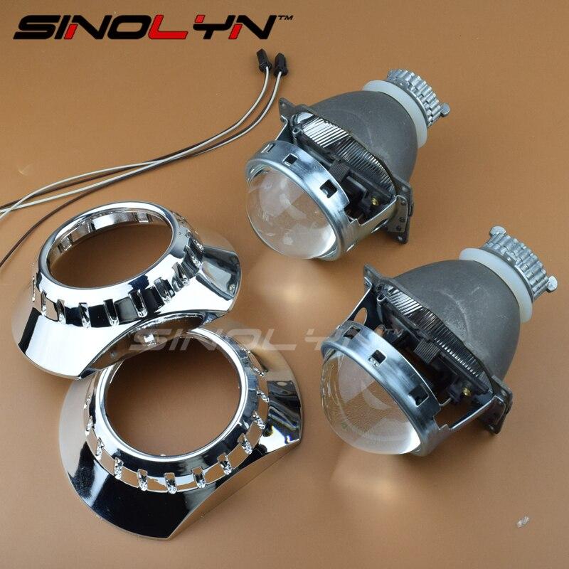 SINOLYN Car Styling Full Metal 3.0 Q5 HID Bi xenon Lens Headlight Projector ZKW shrouds Xenon Headlamp Use D2S D2H Bulbs Lamp <br><br>Aliexpress