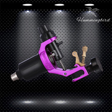 Aluminum ORIGINAL HUMMINGBIRD Rotary Tattoo Machine Gen 1 With Cord Cip Cable RCA Jack Supply Purple V1(China)