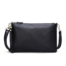 Summer Fashion Women Leather Bag Genuine Leather Messenger Bag Handbag Cowhide Leather Female Crossbody Shoulder Bags Clutch