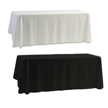 2 Colors nappe de table Satin Tablecloth Table cloth White & Black for Banquet Wedding Festival Decoration Table Covers Hot Sale