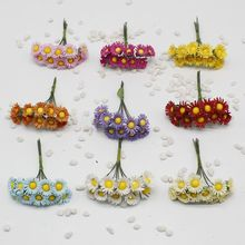 100 pcs  sunflowers artificial flowers artificial flowers simulation flowers small daisy flower sunflower garland diy materi