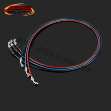 1500mm Braided steel Reinforced Brake Clutch Hose Line Pipe with stainless steel Banjo for CRF YZF RMZ KTM KXF motorcycle