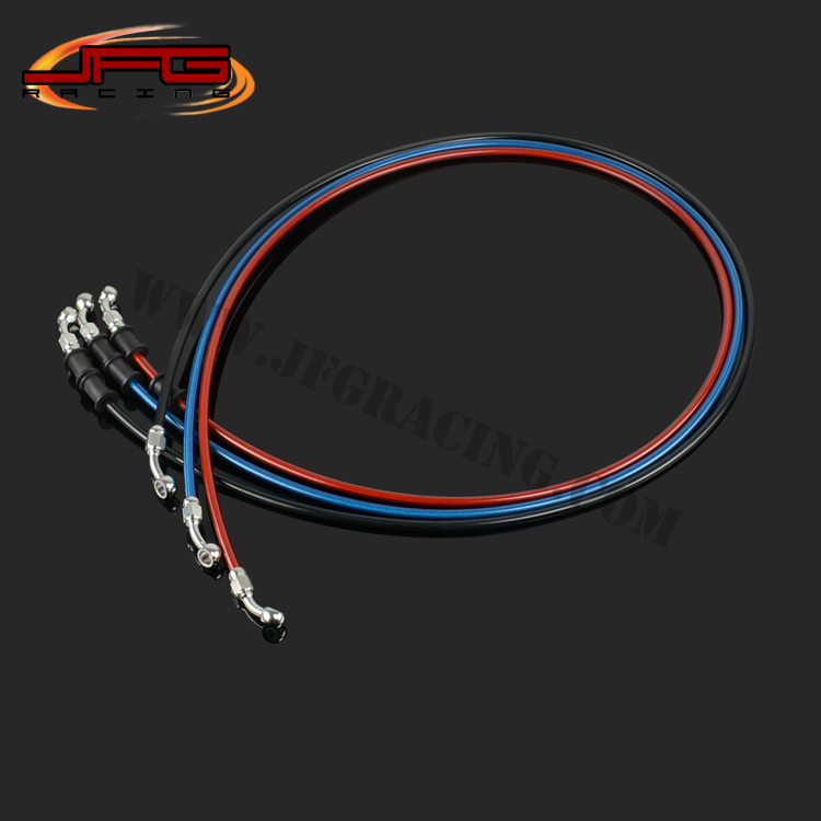 1500mm Braided steel Reinforced Brake Clutch Hose Line Pipe with stainless steel Banjo for CRF YZF RMZ KTM KXF motorcycle<br><br>Aliexpress
