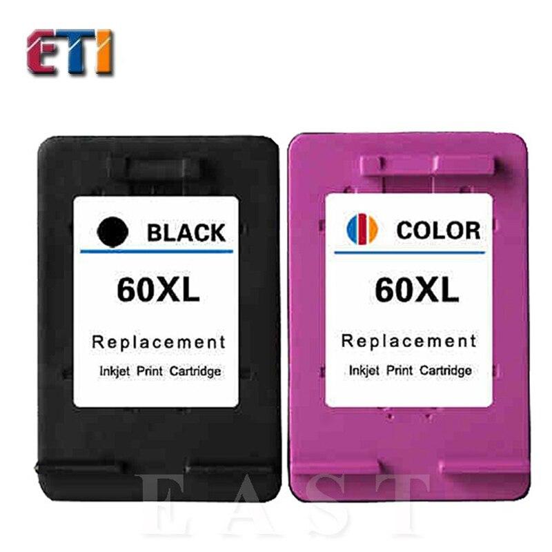 2PK For HP 60XL For HP 60 Ink Cartridge For hp60  D1660 D1663 D2530 D2545 D2560 D2563 F2400  F2420  F2423 F2430 F2480 F2483.<br><br>Aliexpress